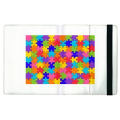 Funny Colorful Puzzle Pieces Apple Ipad 2 Flip Case by yoursparklingshop