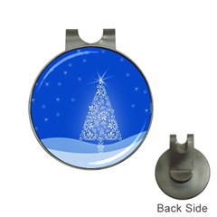 Blue White Christmas Tree Hat Clips With Golf Markers by yoursparklingshop
