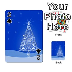 Blue White Christmas Tree Playing Cards 54 Designs  by yoursparklingshop