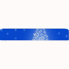 Blue White Christmas Tree Small Bar Mats by yoursparklingshop