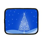 Blue White Christmas Tree Netbook Case (Small)  Front
