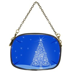 Blue White Christmas Tree Chain Purses (one Side)  by yoursparklingshop