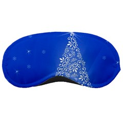 Blue White Christmas Tree Sleeping Masks by yoursparklingshop