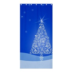 Blue White Christmas Tree Shower Curtain 36  X 72  (stall)  by yoursparklingshop