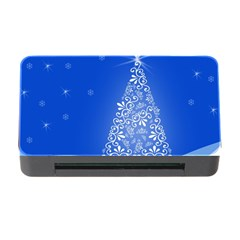 Blue White Christmas Tree Memory Card Reader With Cf by yoursparklingshop