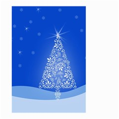 Blue White Christmas Tree Small Garden Flag (two Sides) by yoursparklingshop