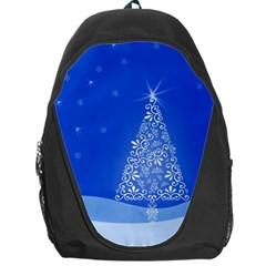 Blue White Christmas Tree Backpack Bag by yoursparklingshop