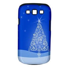 Blue White Christmas Tree Samsung Galaxy S Iii Classic Hardshell Case (pc+silicone) by yoursparklingshop