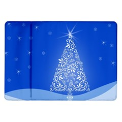 Blue White Christmas Tree Samsung Galaxy Tab 10 1  P7500 Flip Case by yoursparklingshop