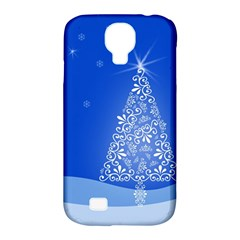 Blue White Christmas Tree Samsung Galaxy S4 Classic Hardshell Case (pc+silicone) by yoursparklingshop