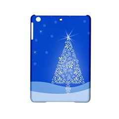 Blue White Christmas Tree Ipad Mini 2 Hardshell Cases by yoursparklingshop