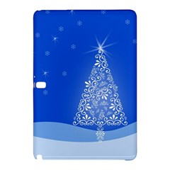 Blue White Christmas Tree Samsung Galaxy Tab Pro 10 1 Hardshell Case by yoursparklingshop