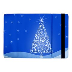 Blue White Christmas Tree Samsung Galaxy Tab Pro 10 1  Flip Case by yoursparklingshop