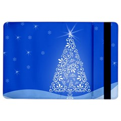 Blue White Christmas Tree Ipad Air 2 Flip by yoursparklingshop