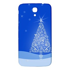 Blue White Christmas Tree Samsung Galaxy Mega I9200 Hardshell Back Case by yoursparklingshop