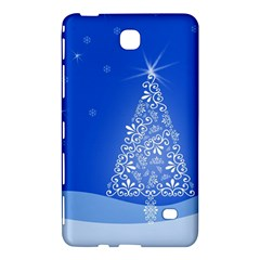 Blue White Christmas Tree Samsung Galaxy Tab 4 (7 ) Hardshell Case  by yoursparklingshop