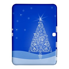 Blue White Christmas Tree Samsung Galaxy Tab 4 (10 1 ) Hardshell Case  by yoursparklingshop