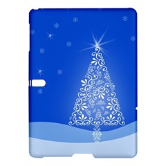 Blue White Christmas Tree Samsung Galaxy Tab S (10 5 ) Hardshell Case  by yoursparklingshop