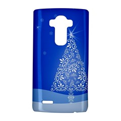 Blue White Christmas Tree Lg G4 Hardshell Case by yoursparklingshop