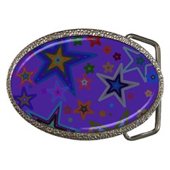 Purple Christmas Party Stars Belt Buckles by yoursparklingshop