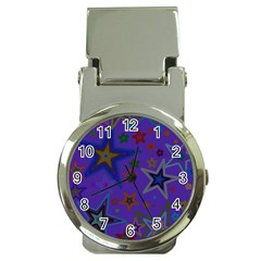 Purple Christmas Party Stars Money Clip Watches by yoursparklingshop