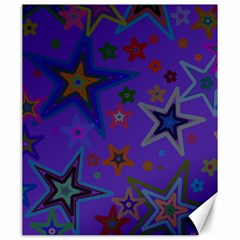 Purple Christmas Party Stars Canvas 20  X 24