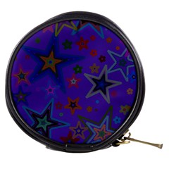 Purple Christmas Party Stars Mini Makeup Bags by yoursparklingshop