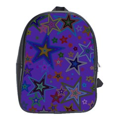 Purple Christmas Party Stars School Bags(large)  by yoursparklingshop
