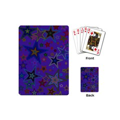 Purple Christmas Party Stars Playing Cards (mini)  by yoursparklingshop