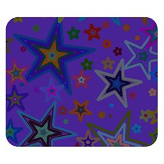 Purple Christmas Party Stars Double Sided Flano Blanket (small)  by yoursparklingshop