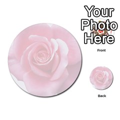 Pink White Love Rose Multi Purpose Cards (round)  by yoursparklingshop