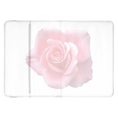 Pink White Love Rose Samsung Galaxy Tab 8 9  P7300 Flip Case by yoursparklingshop