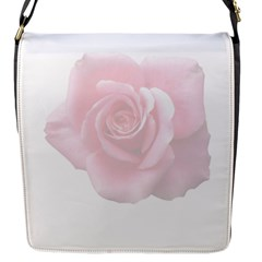 Pink White Love Rose Flap Messenger Bag (s) by yoursparklingshop