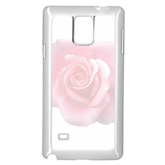 Pink White Love Rose Samsung Galaxy Note 4 Case (white) by yoursparklingshop