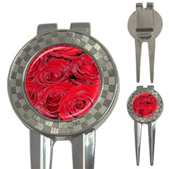 Red Love Roses 3 In 1 Golf Divots by yoursparklingshop
