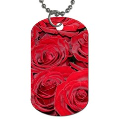Red Love Roses Dog Tag (one Side) by yoursparklingshop