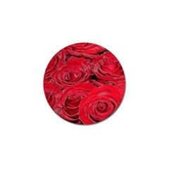 Red Love Roses Golf Ball Marker (4 Pack) by yoursparklingshop