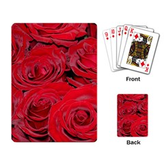 Red Love Roses Playing Card by yoursparklingshop