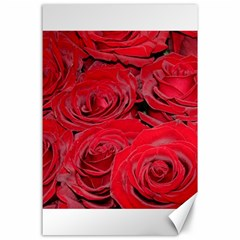 Red Love Roses Canvas 24  X 36  by yoursparklingshop