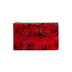 Red Love Roses Cosmetic Bag (small)  by yoursparklingshop