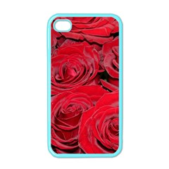 Red Love Roses Apple Iphone 4 Case (color) by yoursparklingshop