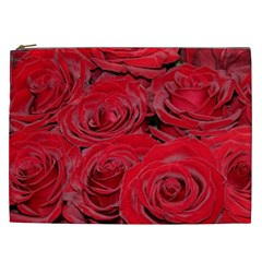 Red Love Roses Cosmetic Bag (xxl)  by yoursparklingshop