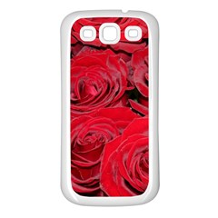 Red Love Roses Samsung Galaxy S3 Back Case (white)