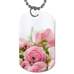 Romantic Pink Flowers Dog Tag (one Side) by yoursparklingshop