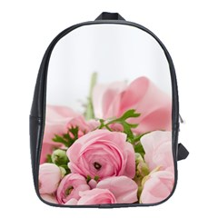 Romantic Pink Flowers School Bags(large)  by yoursparklingshop