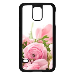 Romantic Pink Flowers Samsung Galaxy S5 Case (black) by yoursparklingshop