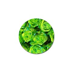 Festive Green Glitter Roses Valentine Love  Golf Ball Marker (10 Pack) by yoursparklingshop