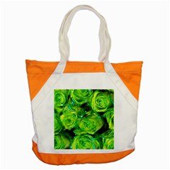 Festive Green Glitter Roses Valentine Love  Accent Tote Bag by yoursparklingshop