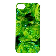 Festive Green Glitter Roses Valentine Love  Apple Iphone 5s/ Se Hardshell Case by yoursparklingshop