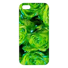 Festive Green Glitter Roses Valentine Love  Iphone 5s/ Se Premium Hardshell Case by yoursparklingshop